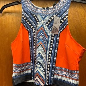 BRAND NEW TRIBAL CROP TOP FOREVER 21 SIZE L